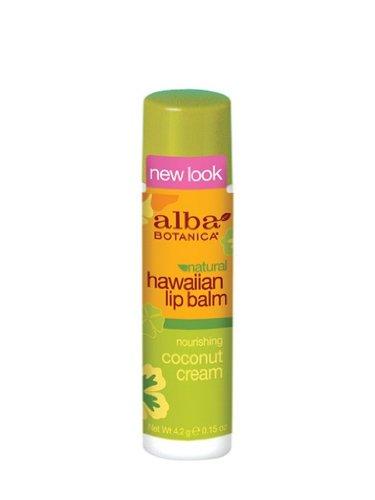 Alba Botanica Nourishing Coconut Cream Hawaiian Lip Balm, 0.15 Ounce Tubes (Pack of 6) by Alba Botanica - Alba Botanica Coconut Lip Balm