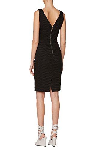 next Femme Coupe Classique Robe En Jacquard Noir