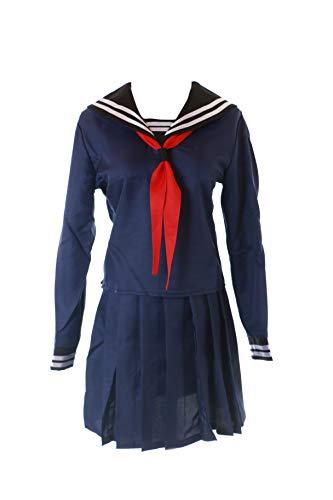 Kawaii-Story MN-68 Fate Zero Saber Blau Sailor Matrosen 3-TLG. Set Anzug Schuluniform Kostüm Manga Anime Cosplay (XL)