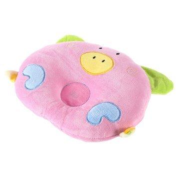 YKS Baby-Kopfkissen, zur Vorbeugung von Kopfverformungen, weiche Baumwolle, geformt
