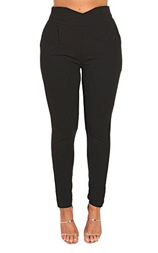 IKRUSH Women's Margot Maßgeschneiderte Hosen in Black Size L (Hosen Hosen Maßgeschneiderte)