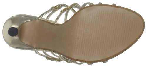 Unze Evening Sandals, Sandali col tacco donna Oro (Gold (L18540W))