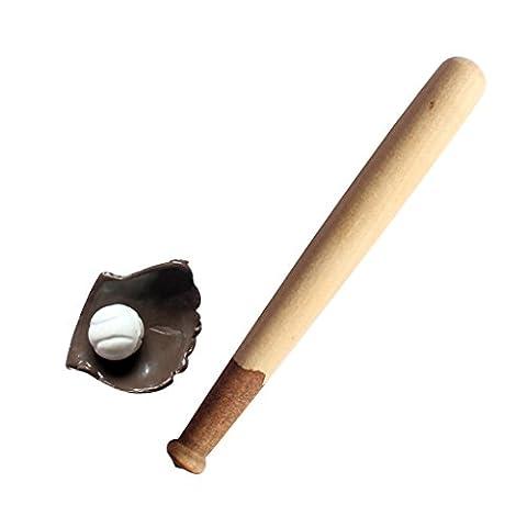MagiDeal 1/12 Dollhouse Furniture Mini Baseball Bat