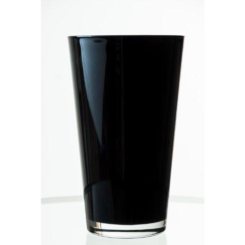 Jarrón cónico de cristal SALLY, negro, 22 cm, Ø 13 cm -...