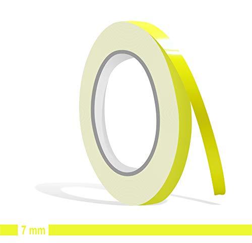 Siviwonder Zierstreifen schwefelgelb in 7 mm Breite und 10 m Länge für Auto Boot Jetski Modellbau Klebeband Aufkleber Dekorstreifen gelb -