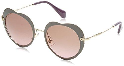 Miu Miu Damen 0MU54RS U6H5P1 52 Sonnenbrille, (Matte Beige/Violet)