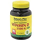 Natures Plus Vitamin D3 2500iu - 90 Softgels by Natures Plus