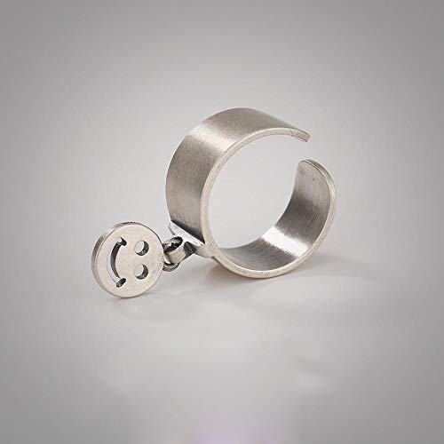 Kaige Anello Smiley di S925 argento moda personalità semplice anello Regalo a persone care, regalo di festa