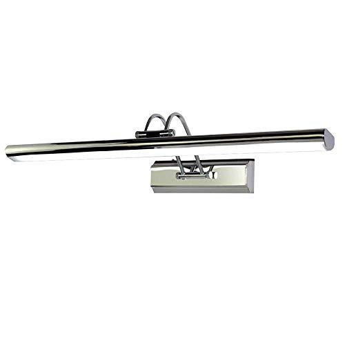 L.TSA 10w / 7w Espejo Lámpara Frontal Moderna Simple Led Acero Inoxidable Impermeable Lámpara de Pared antiniebla Baño Baño Espejo Gabinete Decoración Luz de Pared Ajustable 40cm / 55cm (Tam
