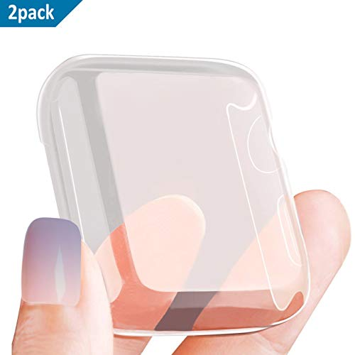SPGuard Funda Protectora de Silicona Compatible con Apple Watch Series 4 con TPU Protección Completa Protector de Pantalla Transparente Funda ultradelgada Serie Adecuada 4 (44 mm)