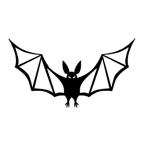 Autoaufkleber 17 cm * 9,2 cm Cartoon Interessant Öffnen Die Flügel Halloween Fledermäuse Hohe Qualität Vinyl Auto Aufkleber Delicate Aufkleber 2 stücke