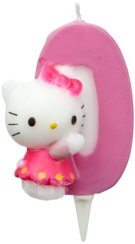 Dekoback Kuchenkerze Zahl 0 Hello Kitty (Hello Geburtstag Kitty-2.)