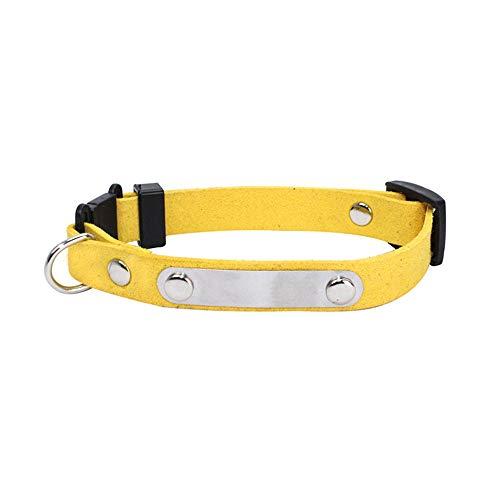 Saingace(TM) Haustier Halsband,Personalisierte Hundehalsbänder Leder Haustier ID Kragen Name Frei Eingraviert -
