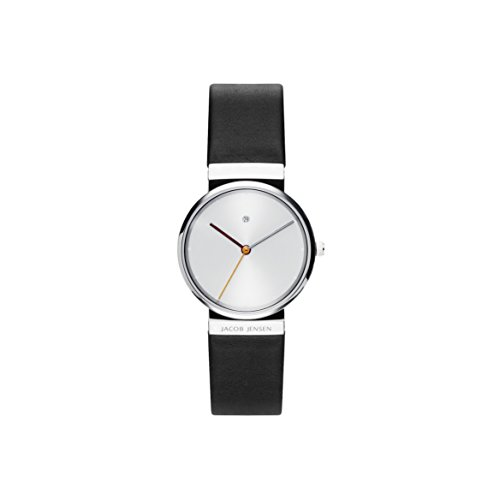 Jacob Jensen Womens Analogue Quartz Watch with Leather Strap JJ850