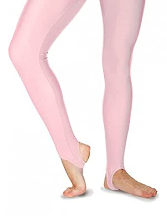 New roch valley stirrup tights/leggings pastel pink size 0 2-4yrs