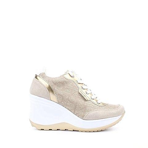 Calvin Klein Jeans RE9695 Sneakers Femme Suède/tissu Or Or 38