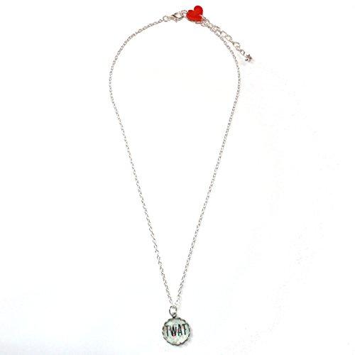 Sour Cherry Black Cat Necklace
