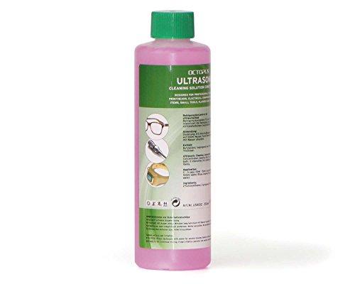 250 ml Octopus Ultrasonic Cleaner Concentrato per bagno a ultrasuoni con brillantezza in più e amplificatore trasparente, come la pulizia degli occhiali, pulitore dei monili per ottica e meccanica con grasso rimozione di potere