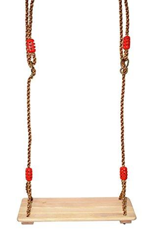 COMINGFIT® Erwachsene und Kinder Schaukelsitz Schaukeln SchaukelBrett aus Holz Holzschaukel mit Sei