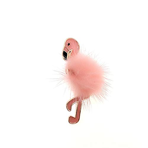 ZWLZQ Broschen Brosche Mädchen Mode Boutonniere Swan Kragen Weißes Leder Nerz Haut Broaches Pin Schmuck Accessoires, Pink -