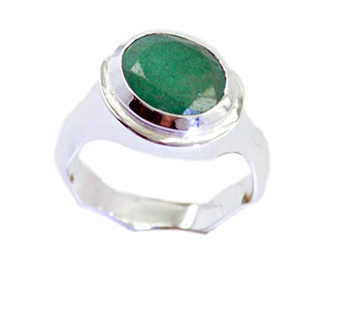 2d75a66b4d65 Riyo Ventas al por Mayor 925 Plata esterlina Elegante Anillo Verde Natural