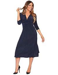KRISP Vestido Mujer Fruncido Original