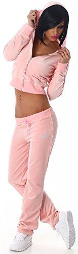 Jela London - Ensemble sportswear - Uni - Manches Longues - Femme Rose - Rose