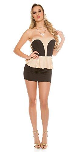 Sexy KouCla Bandeau-Minikleid mit Schößchen Koucla by In-Stylefashion SKU 0000IN5014501 Schwarz