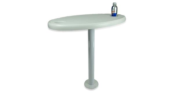 Tisch Mit Festem Tischbein Weiß 70 Cm Und Getränkehaltern Sport Freizeit