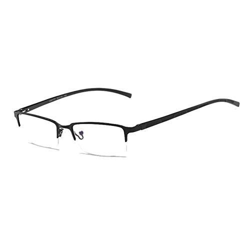 Embryform Nerd Brille schwarz ohne Sehstärke Schutz- Slim Fit für Herren und Damen Panto-Brille...