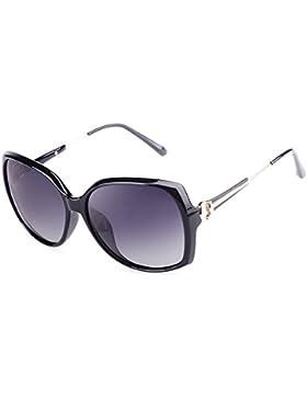 Gafas de sol de las señoras/Gafas de sol de marco grande elegante/Fácil y cómoda retro gafas de sol polarizadas