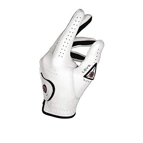 EQ Gant de Golf Cuir Homme et marqueur de Balle (L, Droitier (Gant Main Gauche))
