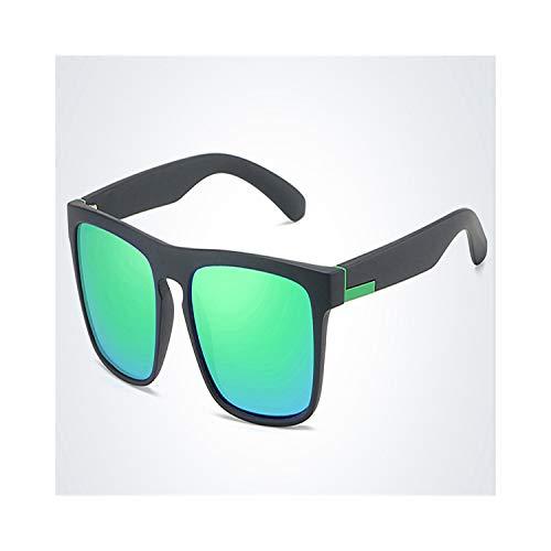 FGRYGF-eyewear2 Sport-Sonnenbrillen, Vintage Sonnenbrillen, Brand Design Polarized Sunglasses Männer Driver Shades Male Vintage Sun Glasses For Männer WoMänner Square Mirror Summer UV400 black green