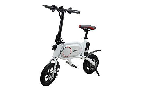 Cityblitz Unisex- Erwachsene Bike Scooter E, weiß, One Size
