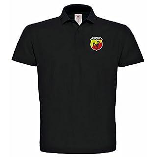 Abarth Fiat Bestickte Fun Poloshirt, 100% Baumwolle super Premium-Qualität -096 (XL)
