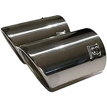 2 embellecedores de tubo de escape Cartuner® E46, de acero inoxidable brillante