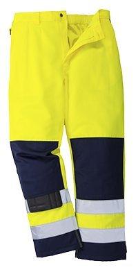 Portwest TX71 Pantaloni Alta Visibilità, Seville, Giallo/Navy, S