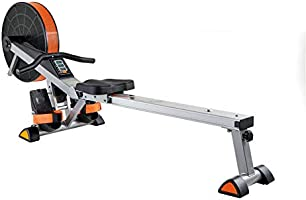V-fit Unisex Adult Tornado Air Rowing Machine - Black/Orange/Silver, One Size