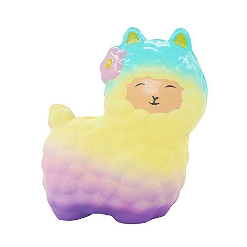ALIKEEY Squeeze Cute Ovejas Alpaca Super Lento Aumento De Aroma Divertido Animal Toys Playa Perros Gatos