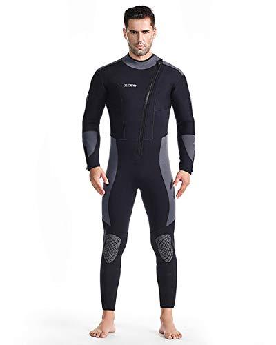 Damen Und Herren Einteiler 5MM Neoprenanzug Front Zipper Tauchanzug Rash Guard Warmer Badeanzug Zum Surfen Deep Dive Scuba,XXL