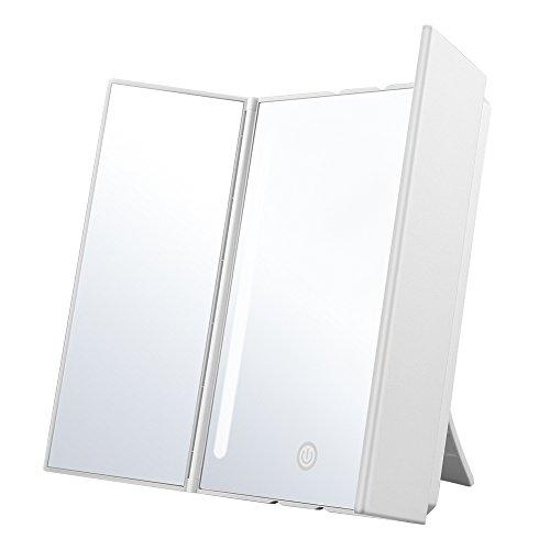 Jerrybox LED Kosmetikspiegel Schminkspiegel mit Beleuchtung (3 Seiten LED Kosmetikspiegel)