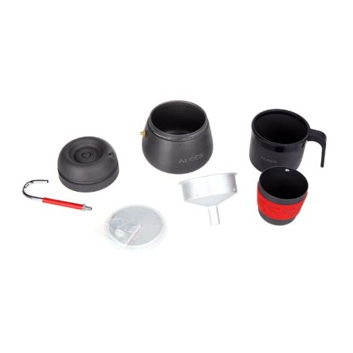 Lixada 350ml Portable Coffee Maker Pot Outdoor Coffee Pot Camping Hiking