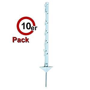 Göbel Weidezaunpfahl PP Copo GF Wildabwehrpfahl 75cm 5 Bandösen 2 Seilösen mit Stahlnagel 10 St. von Göbel auf Du und dein Garten