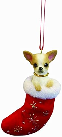 Chihuahua Christmas Stocking Ornament with