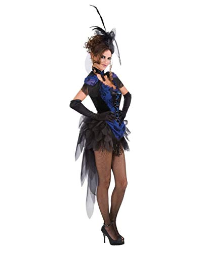 Tänzerinnen Kostüm Burlesque - Horror-Shop Burlesque Tänzerin & Revue Girl Kostüm für Fasching