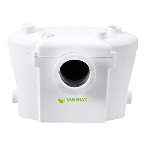 Sanimax SANI400 Hebeanlage Haushaltspumpe Fäkalien Abwasserpumpe für WC 400W mit Kohlefilter