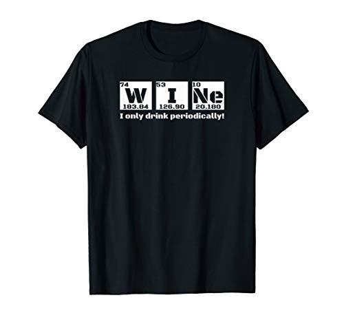 Lustiges Alkohol-trinkendes Geschenk-Chemie-Periodensystem T-Shirt