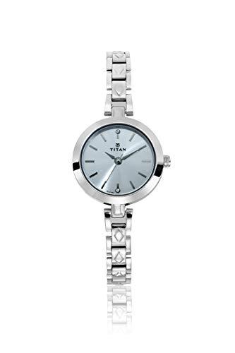 Titan Karishma Analog Silver Dial Women's Watch - 2598SM01