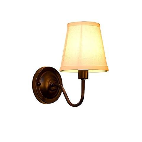 WEXLX Mur de fer de style américain lampadaires lampe pour Salon Escaliers balcons Hauteur Largeur14CM25cm