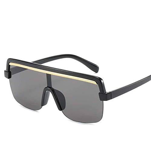 FIRM-CASE Retro Quadrat-Sonnenbrille-Frauen Siamese Leopard große Feld-Sun-Glas-Männer Gradient Ozean Objektiv Brillen, 6